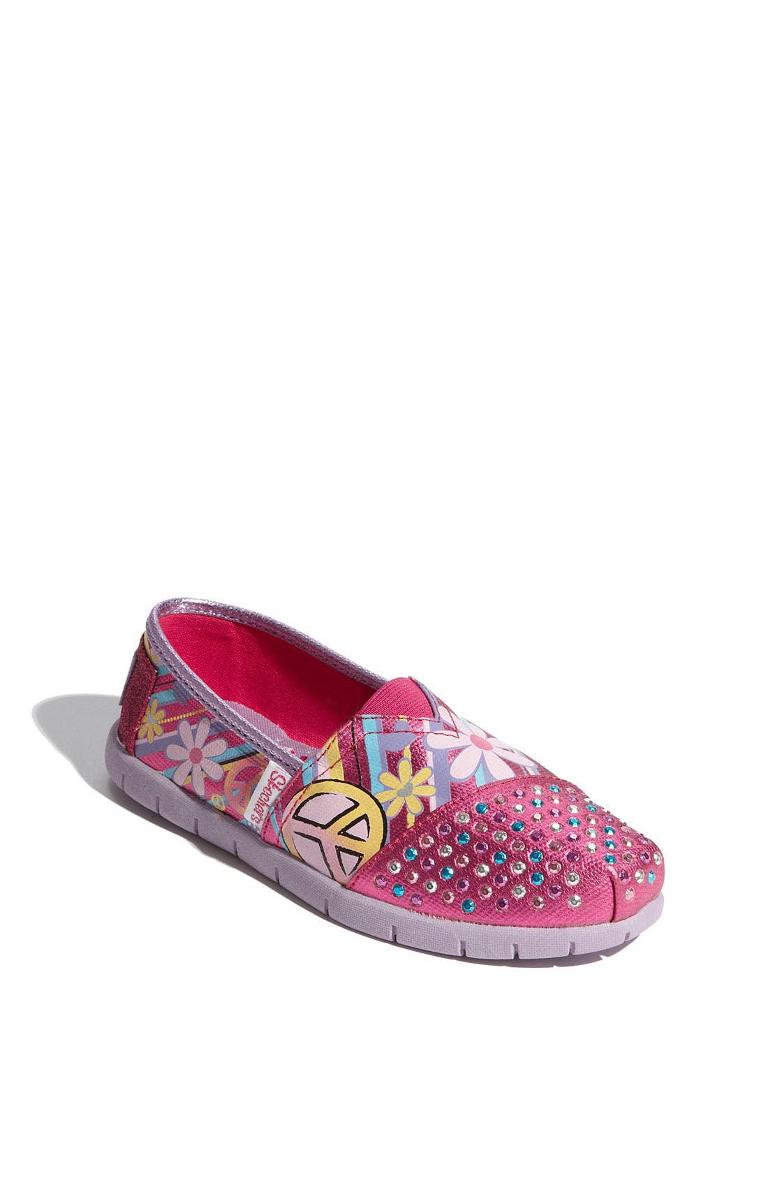Alternate Image 1 Selected - SKECHERS 'Shuffle Ups' Slip-On (Toddler, Little Kid & Big Kid)