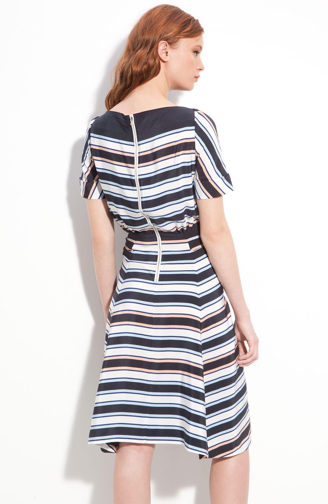 Alternate Image 2  - MARC BY MARC JACOBS 'Jacobson' Stripe Silk Dress