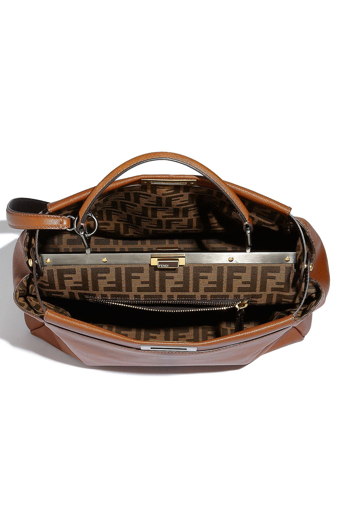 Alternate Image 3  - Fendi 'Peekaboo - Large' Goatskin Leather Satchel