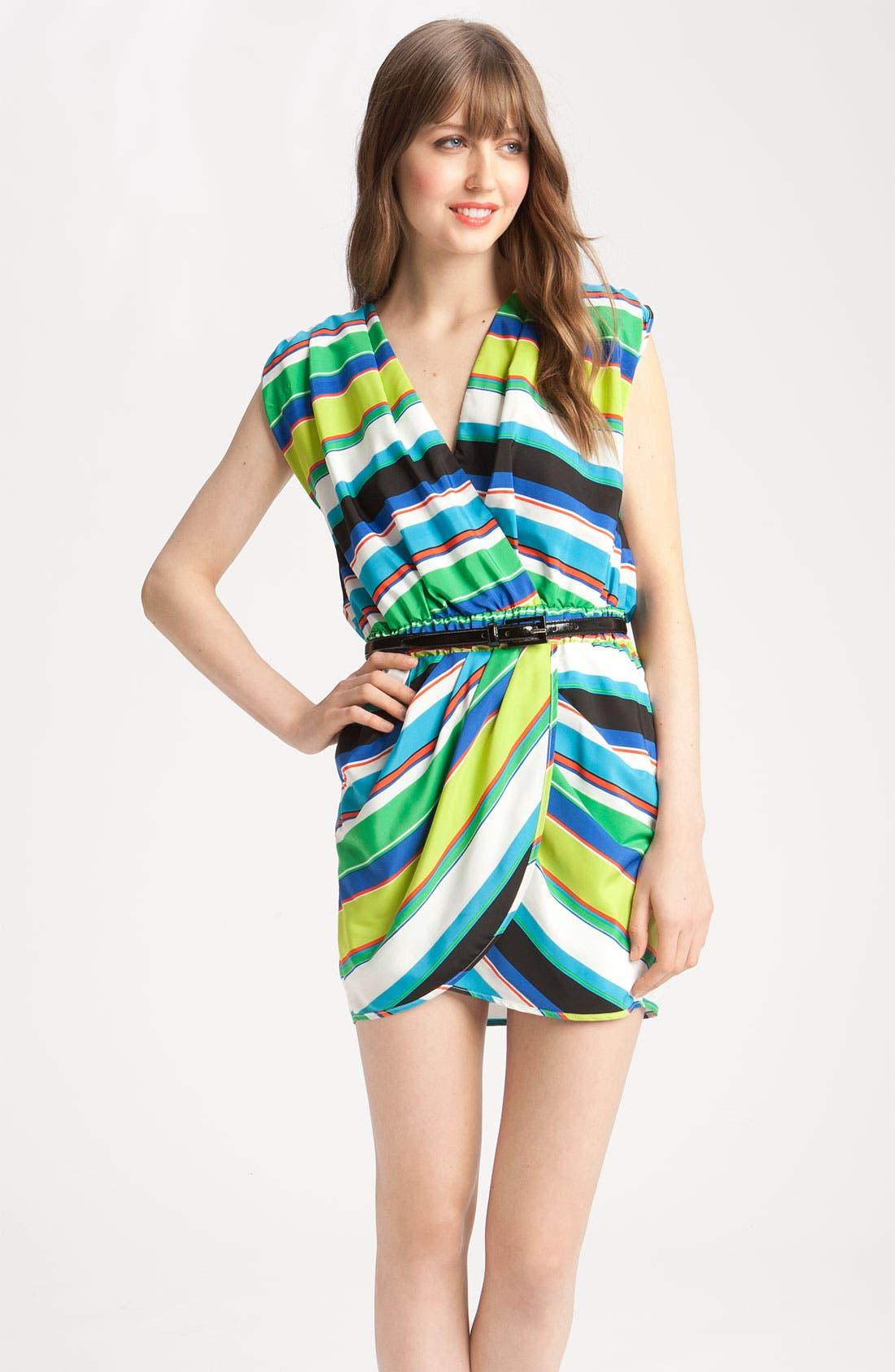 Alternate Image 1 Selected - Vince Camuto Tribal Stripe Faux Wrap Dress