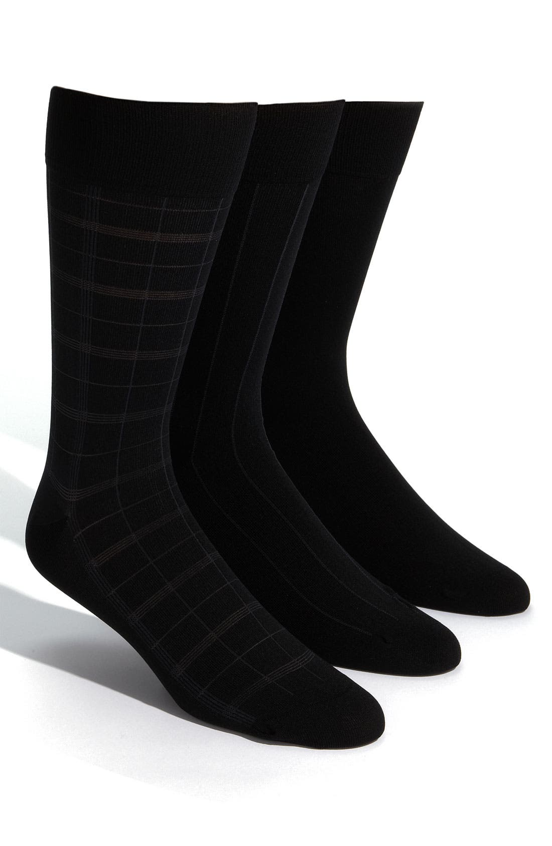 Alternate Image 1 Selected - Calvin Klein Microfiber Socks (3-Pack)