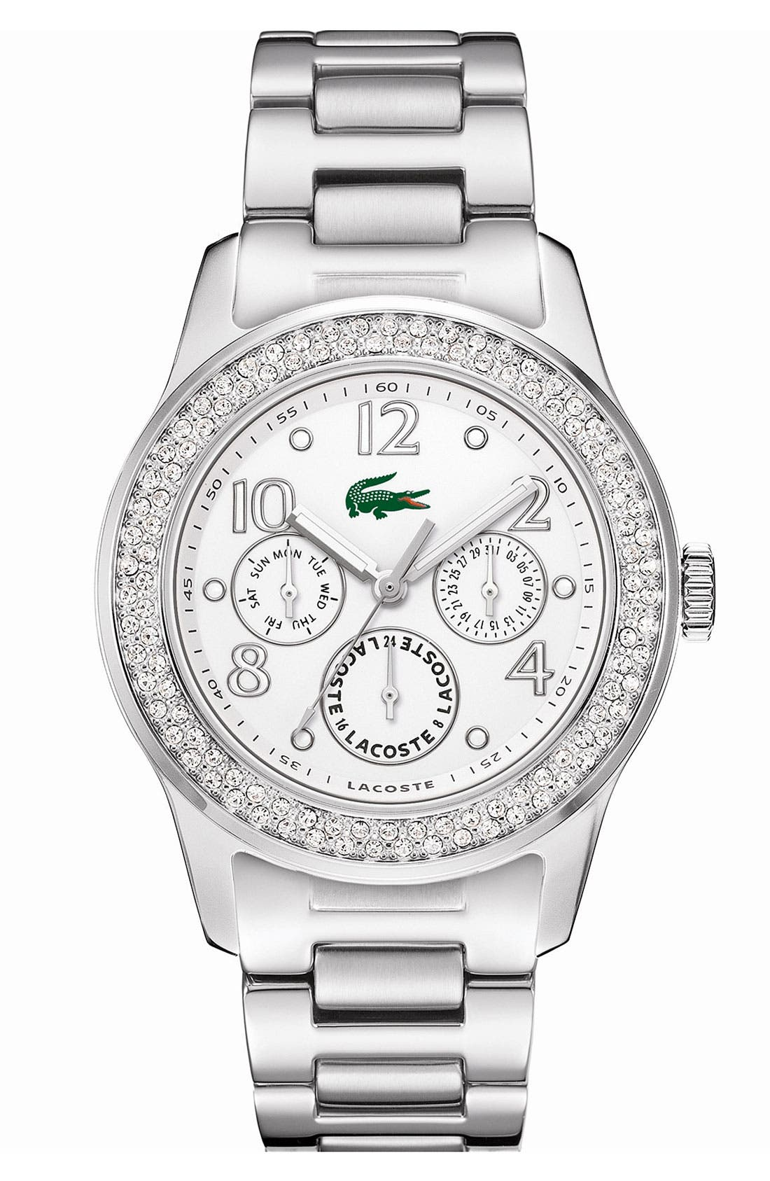 Alternate Image 1 Selected - Lacoste 'Advantage' Crystal Bezel Watch, 38mm