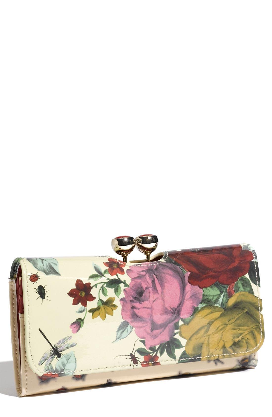 Alternate Image 1 Selected - Ted Baker London 'Rose Bug Bobble' Print Matinee Wallet