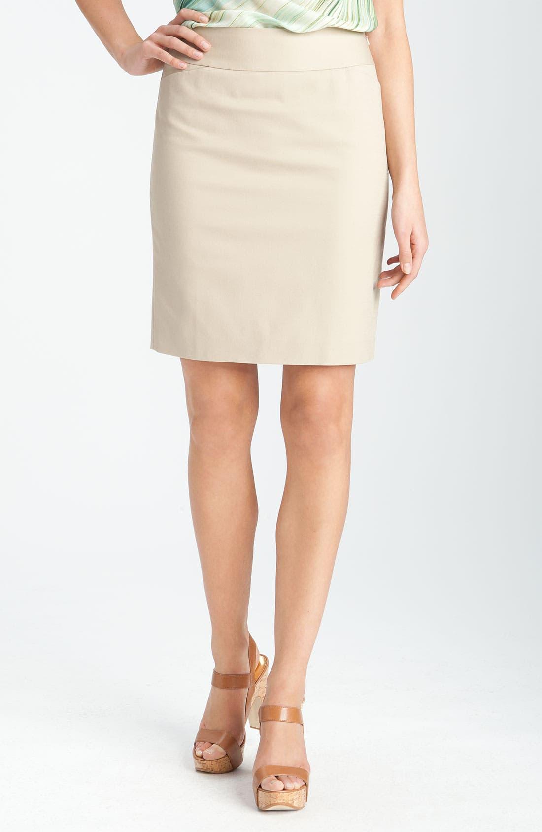 halogen 174 stretch cotton blend pencil skirt nordstrom