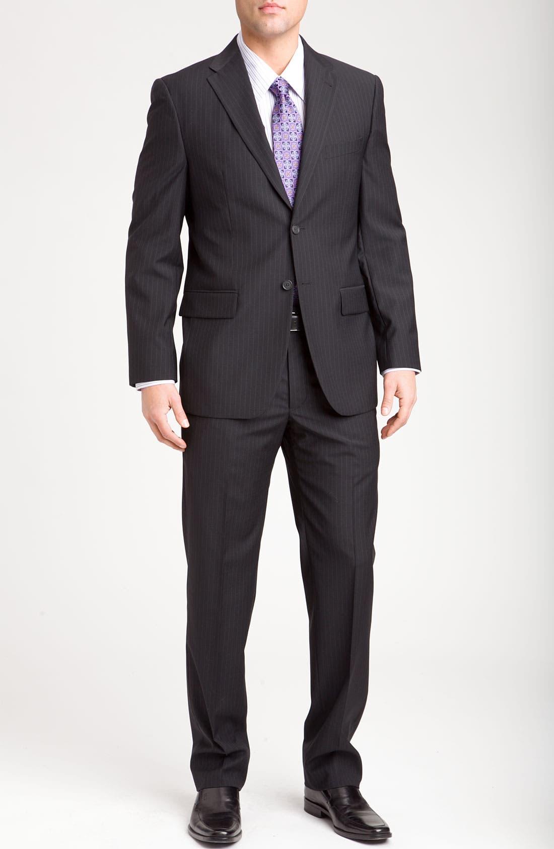 Alternate Image 2  - Joseph Abboud Two Button Stripe Suit