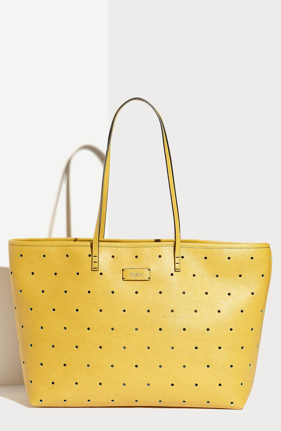 Alternate Image 1 Selected - Fendi 'Roll' Perforated Tote