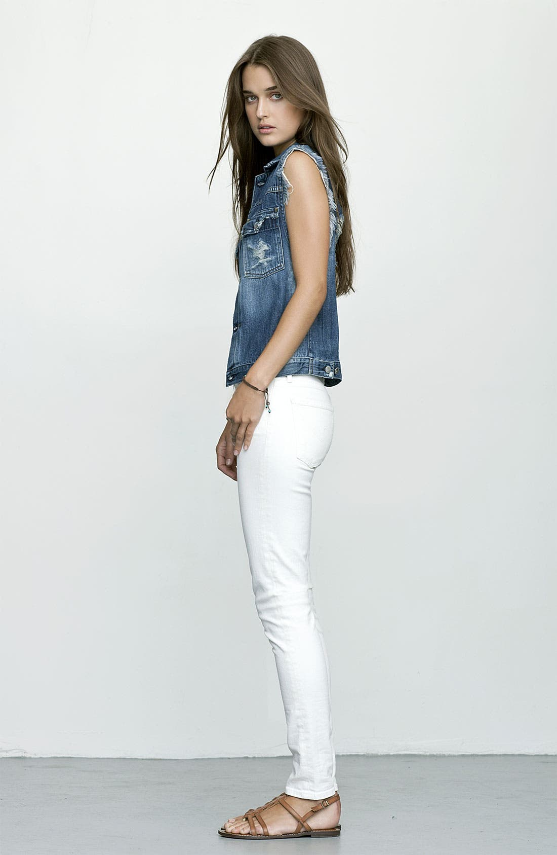 Alternate Image 4  - Citizens of Humanity 'Thompson' Crop Skinny Jeans (Vintage Ivory)