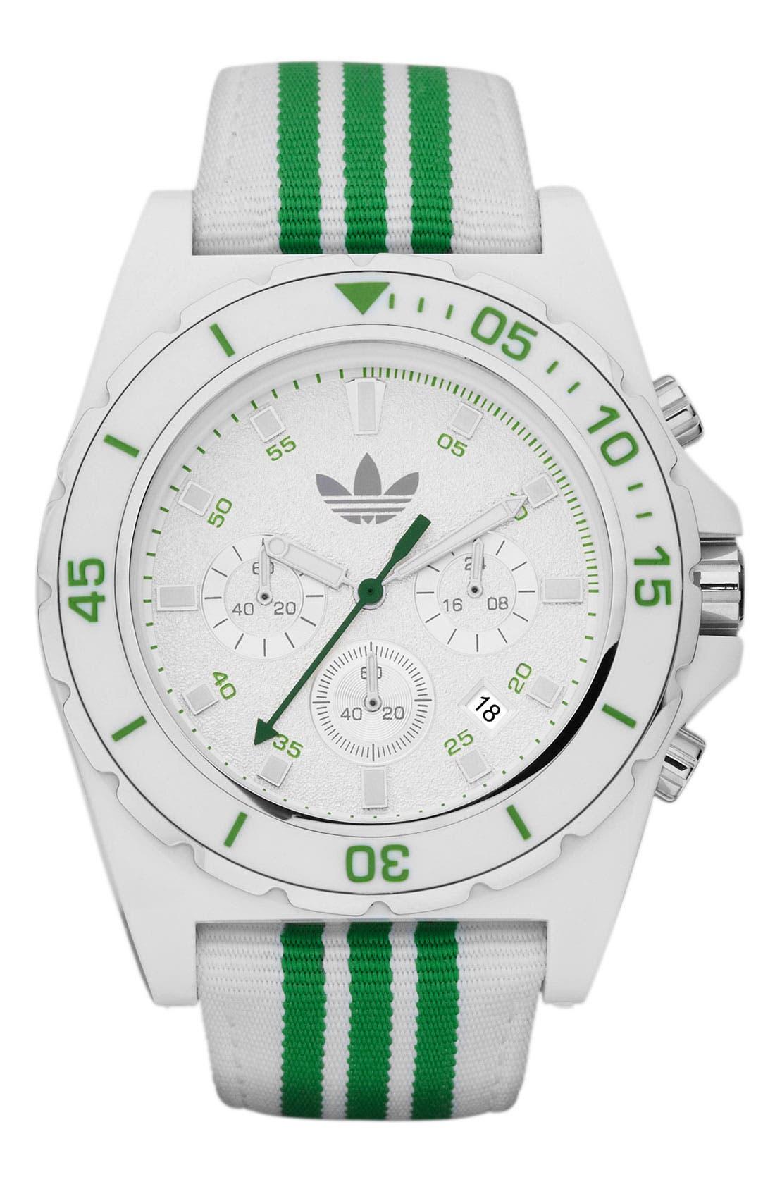 Alternate Image 1 Selected - adidas Originals 'Stockholm' Nylon Strap Watch, 44mm