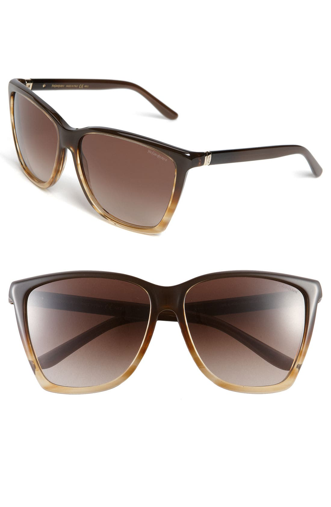 Main Image - Yves Saint Laurent Retro Inspired Sunglasses