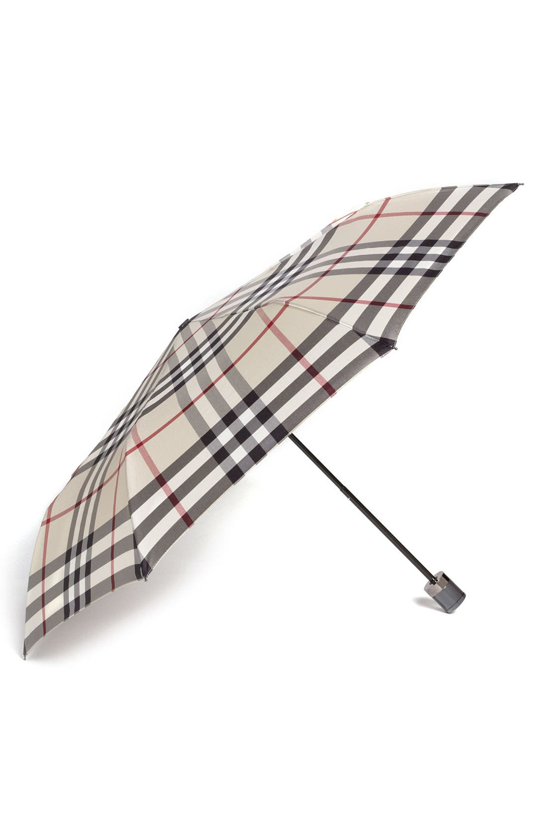 Alternate Image 1 Selected - Burberry Check Folding Umbrella