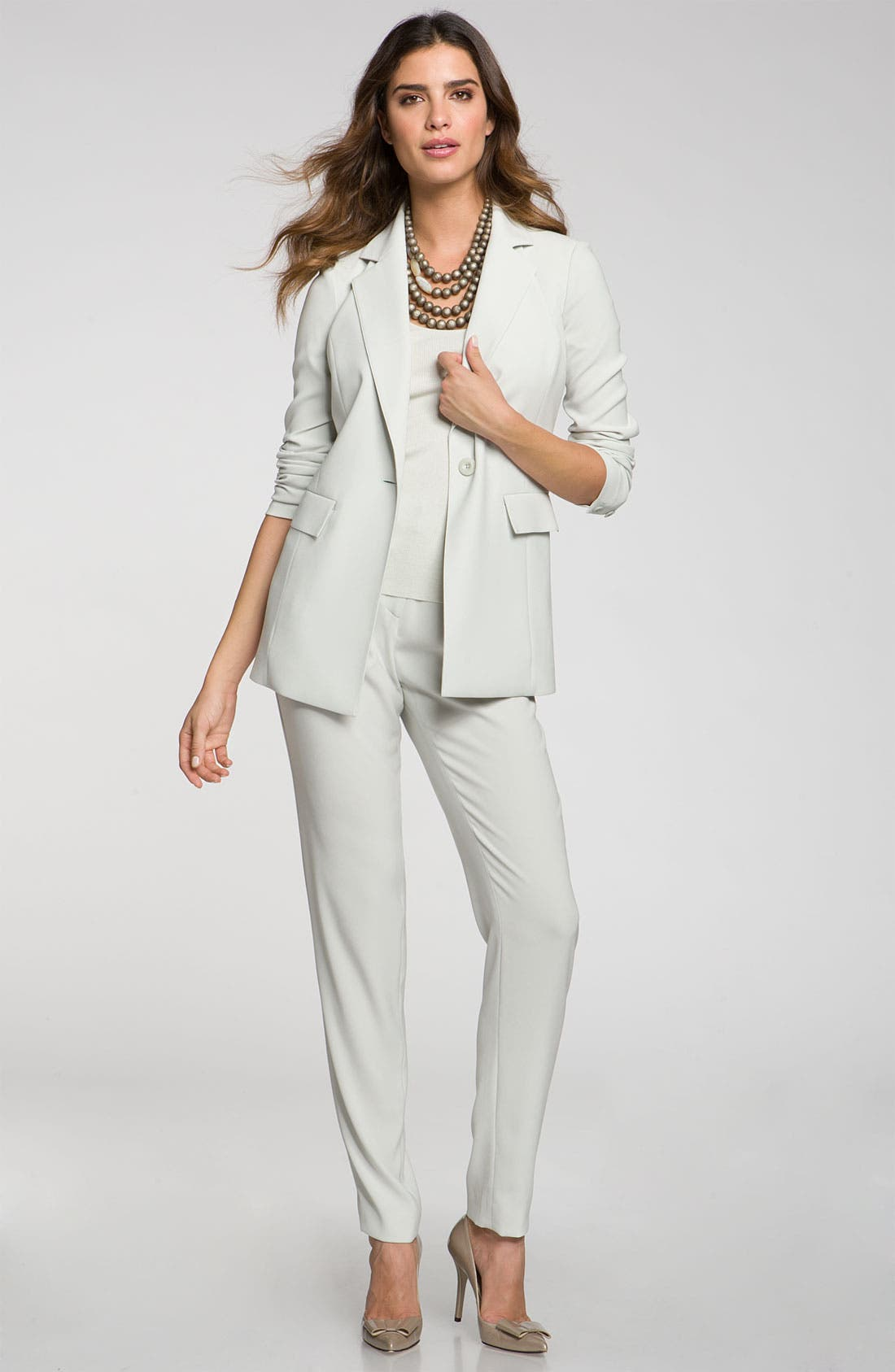 Main Image - St. John Collection 'Carly' Slouchy Luxe Crepe Pants