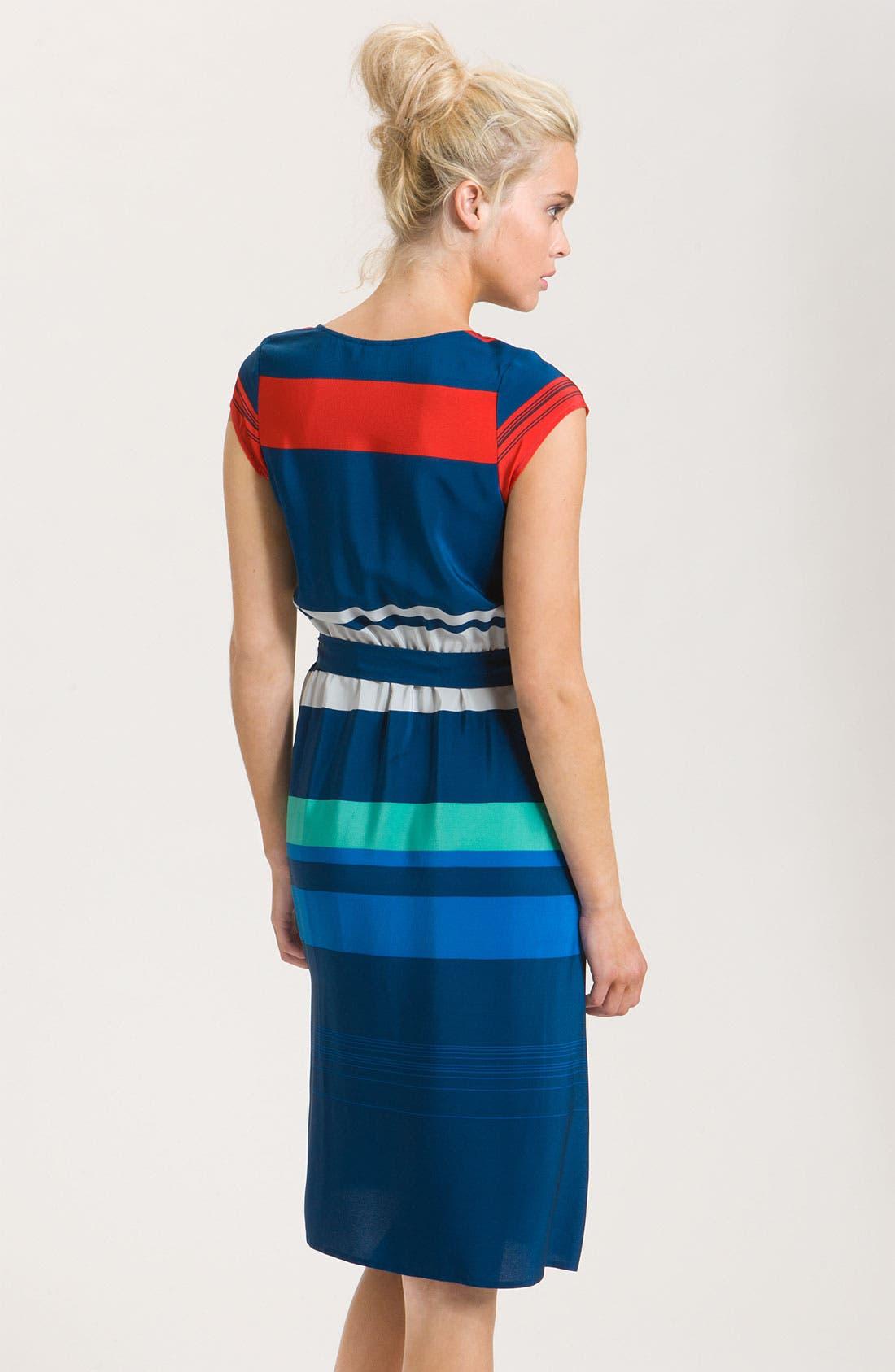 Alternate Image 2  - Presley Skye 'Gwen' Stripe Silk Dress
