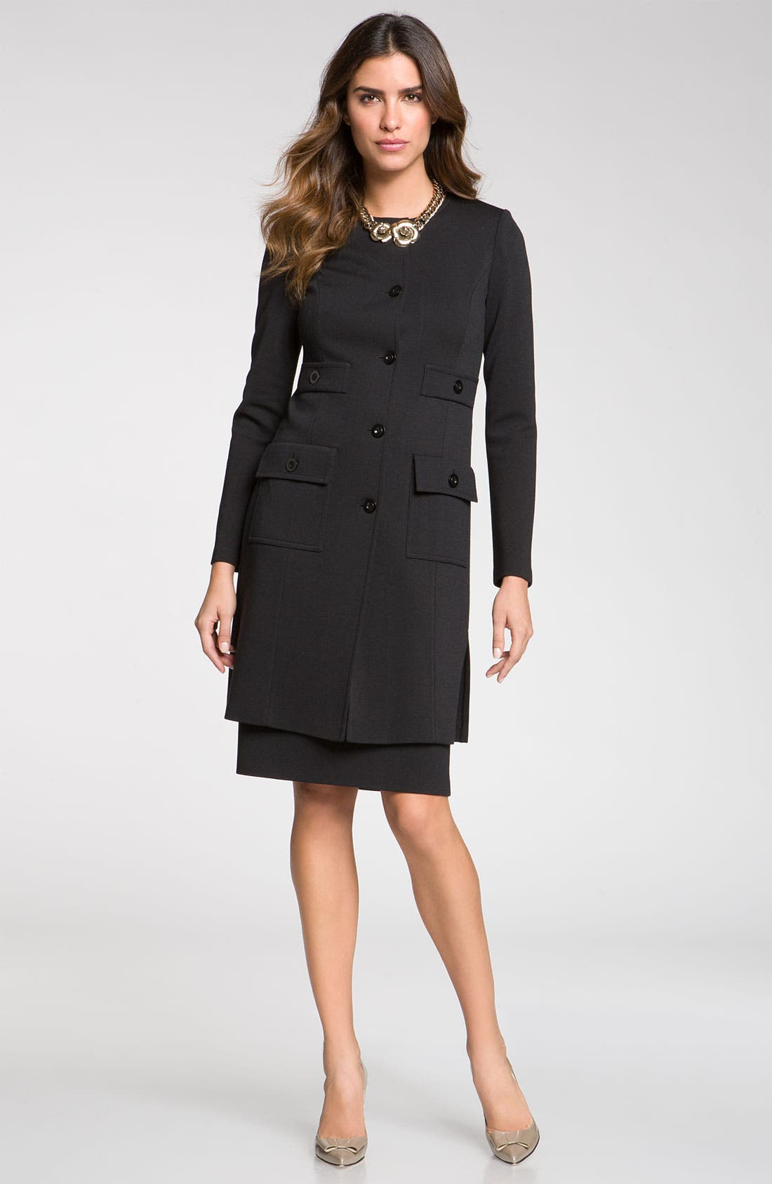 Main Image - St. John Collection Knit Jacket & Pencil Skirt