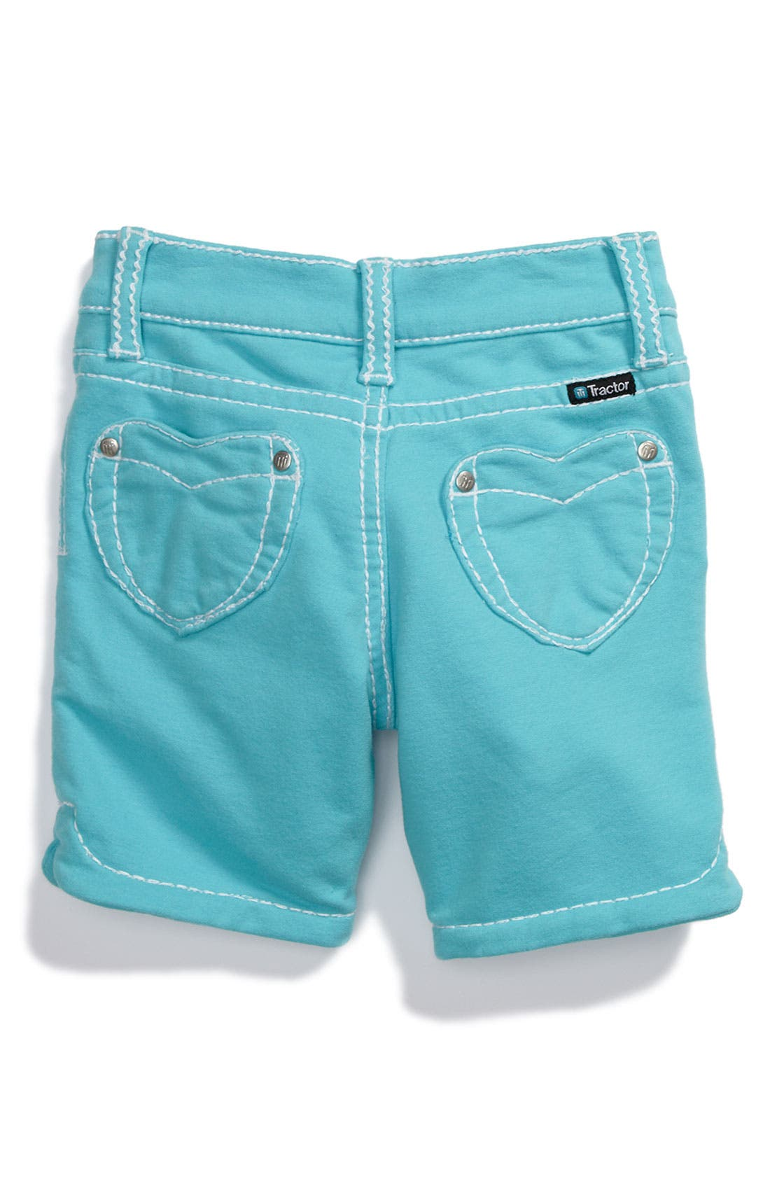 Alternate Image 1 Selected - Tractr 'Heart Pocket' French Terry Bermuda Shorts (Little Girls)