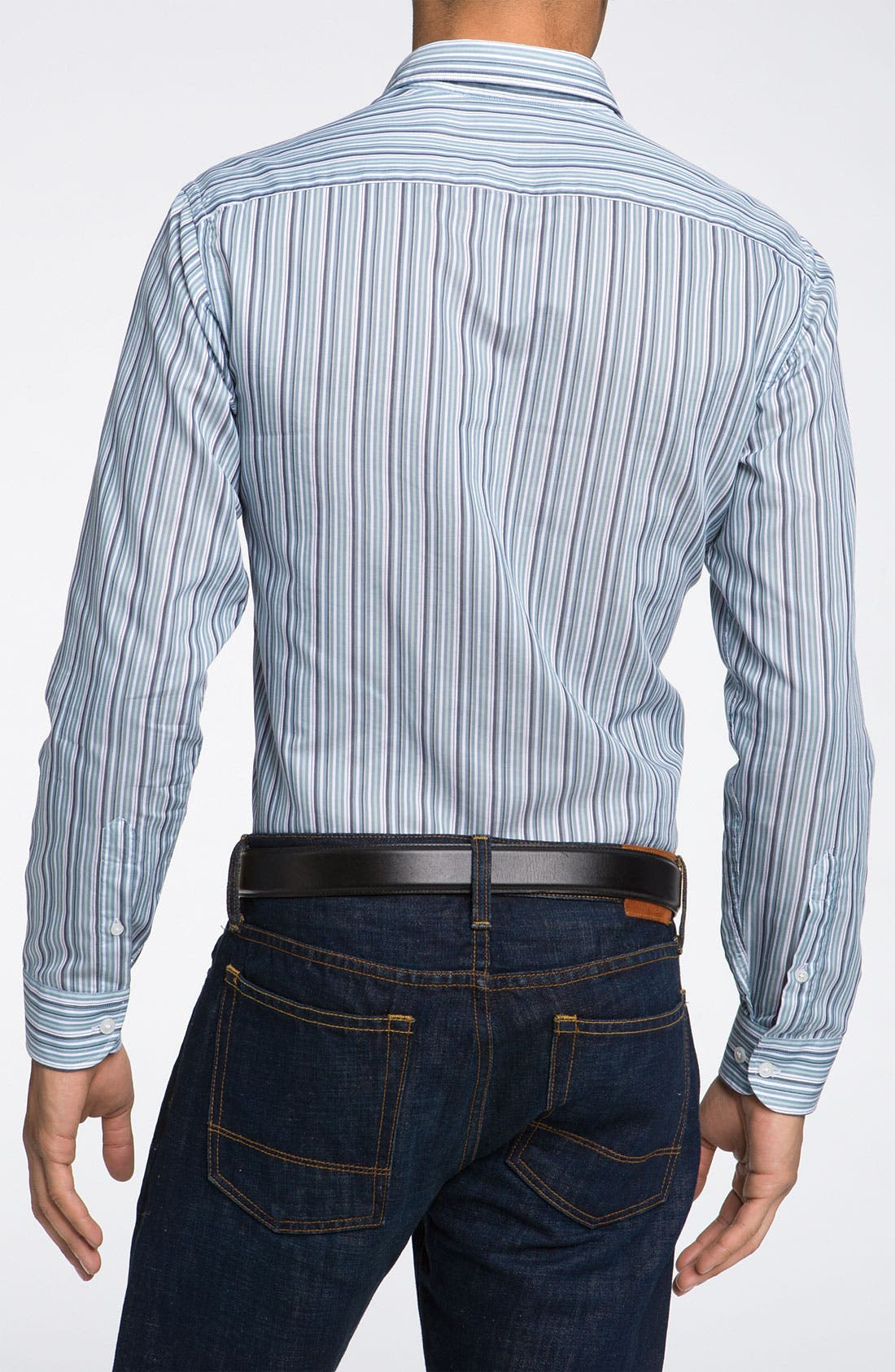 Alternate Image 2  - Armani Collezioni Stripe Woven Shirt