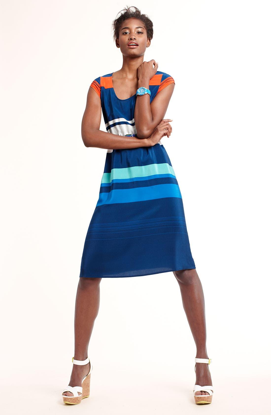 Alternate Image 4  - Presley Skye 'Gwen' Stripe Silk Dress