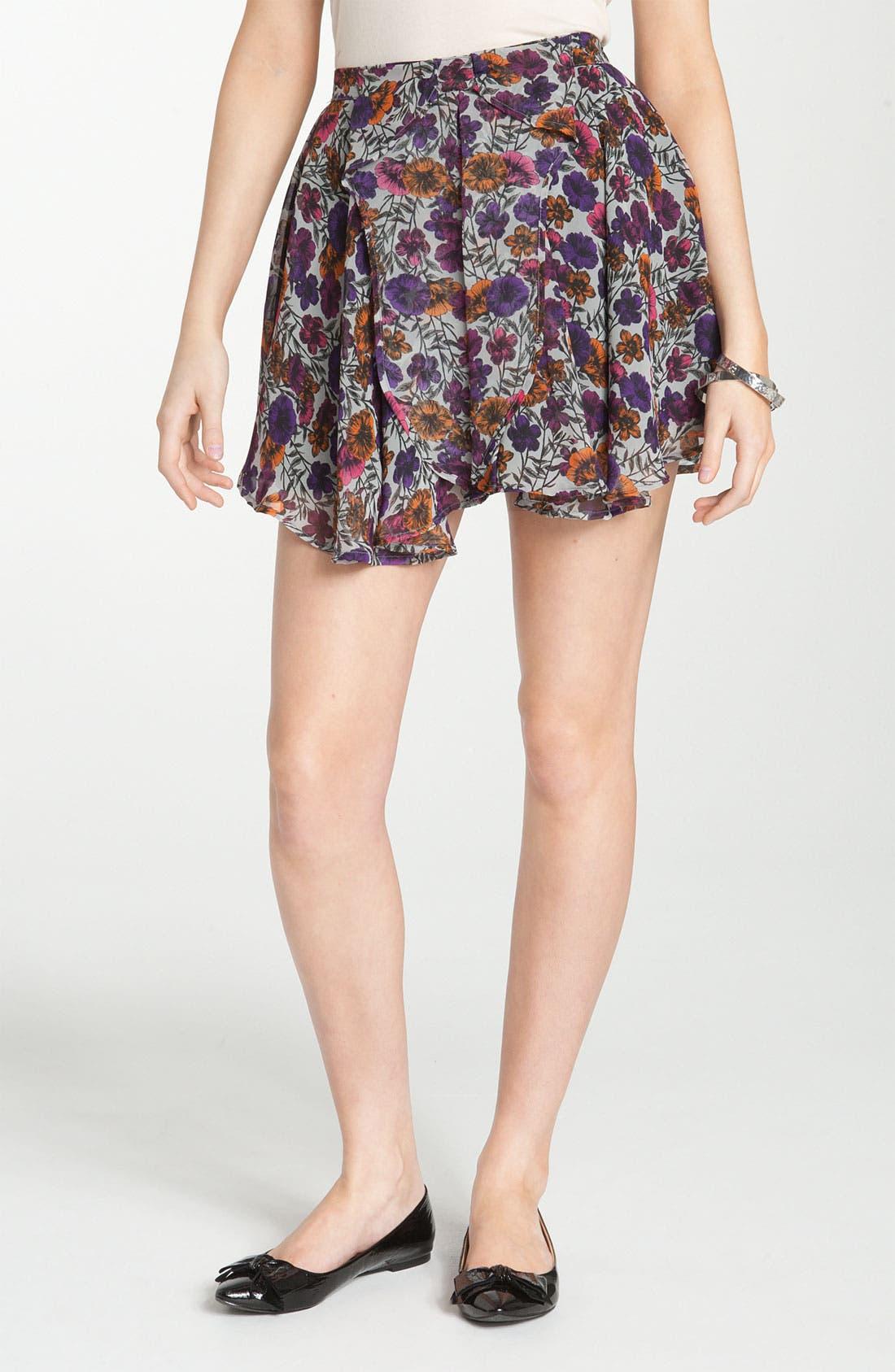 Main Image - Lily White Chiffon Skirt (Juniors)