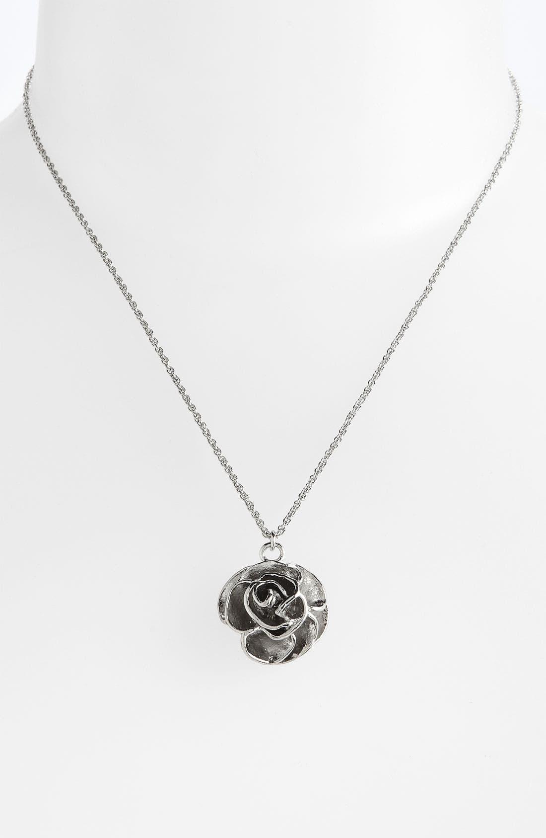 Main Image - Kendra Scott 'Michelle' Rose Pendant Necklace