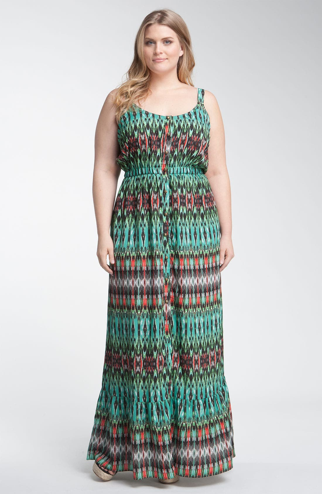 Alternate Image 1 Selected - Bellatrix Print Maxi Dress (Plus)