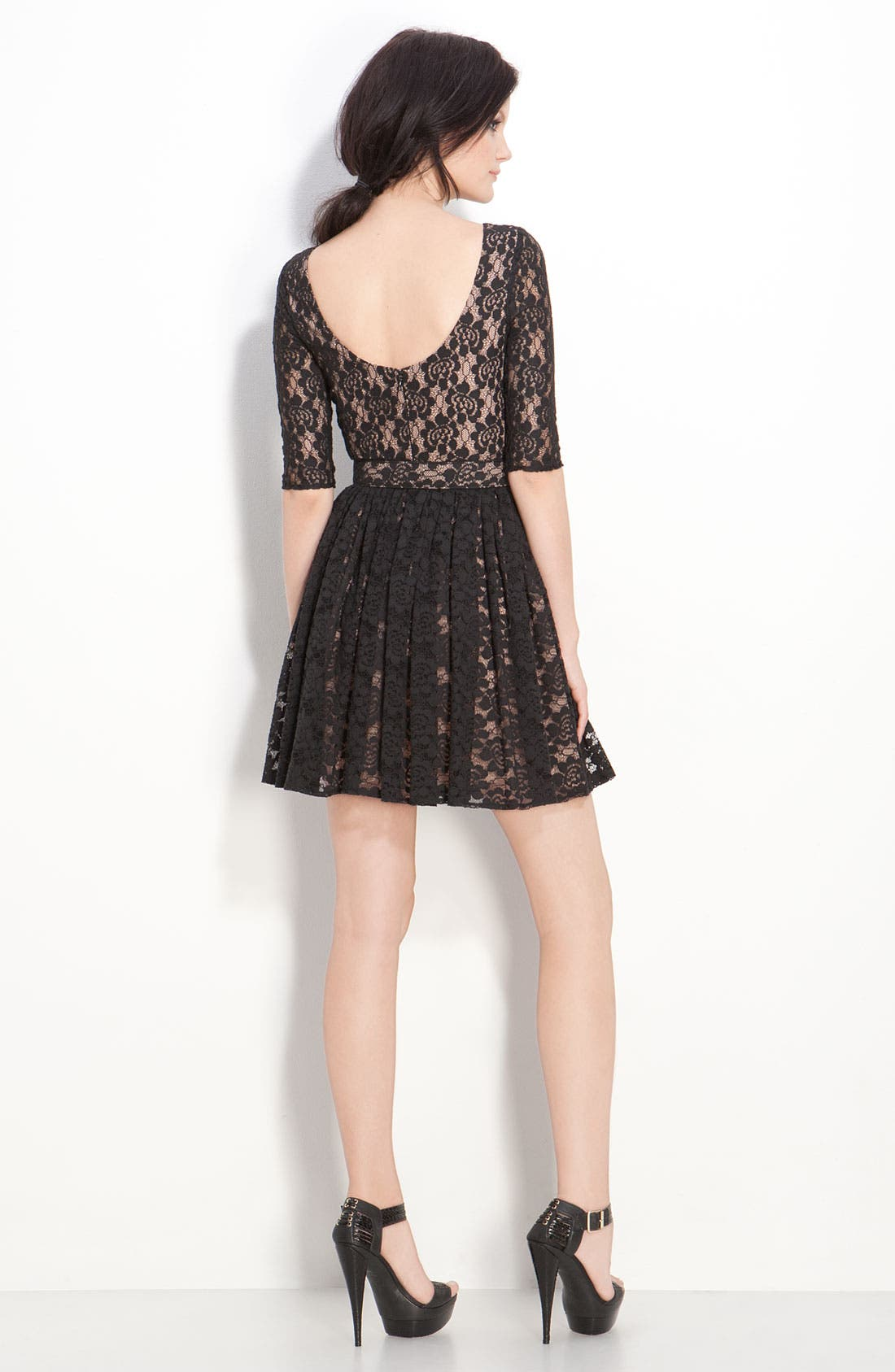 Alternate Image 2  - Rachel Zoe 'Amanda' Belted Lace Dress