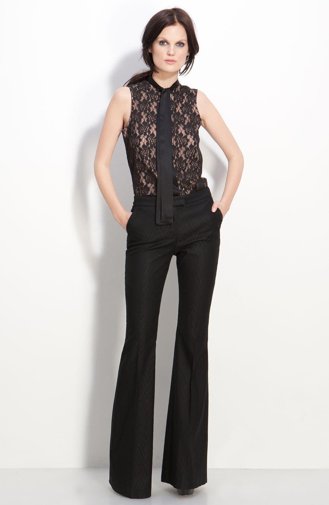 Alternate Image 1 Selected - Rachel Zoe 'Jessica' Tie Neck Sleeveless Blouse