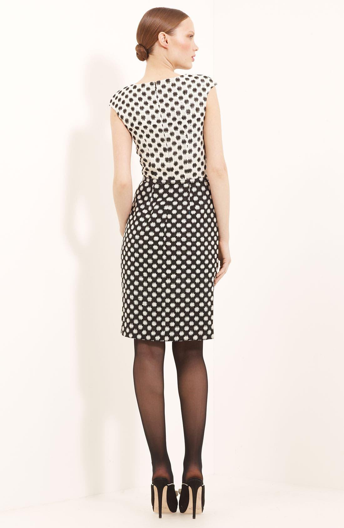 Alternate Image 2  - Oscar de la Renta Belted Silk Tweed Dress