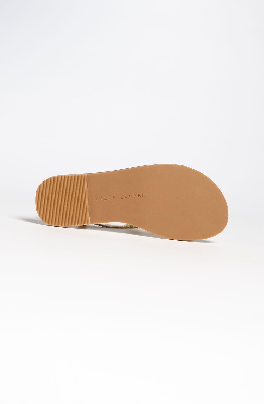 Alternate Image 4  - Ralph Lauren Kids Patent Leather Sandal (Baby, Walker, Toddler, Little Kid & Big Kid)