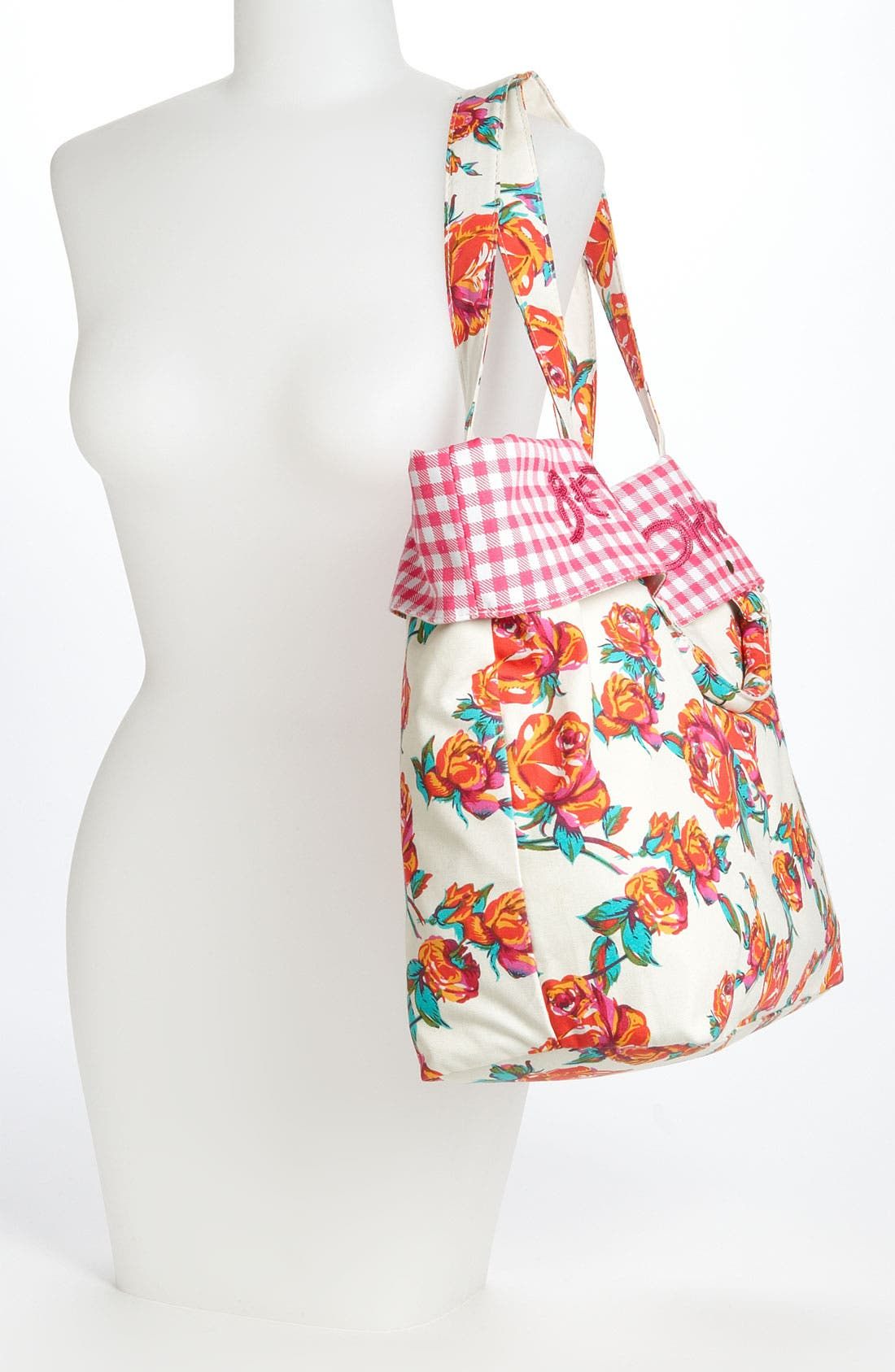 Alternate Image 2  - Betsey Johnson Rose Print Tote