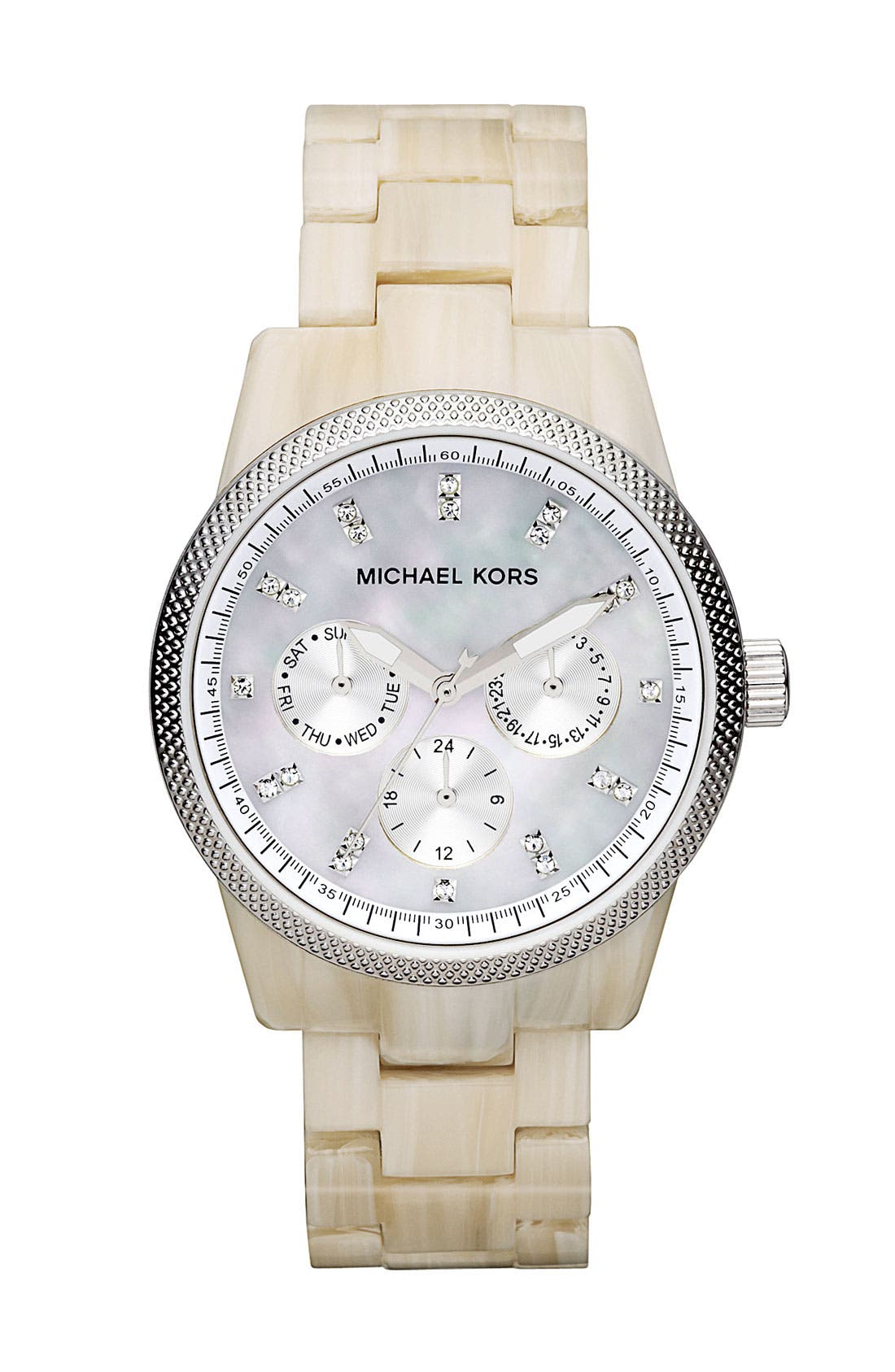 Alternate Image 1 Selected - Michael Kors 'Ritz' Crystal Index Bracelet Watch