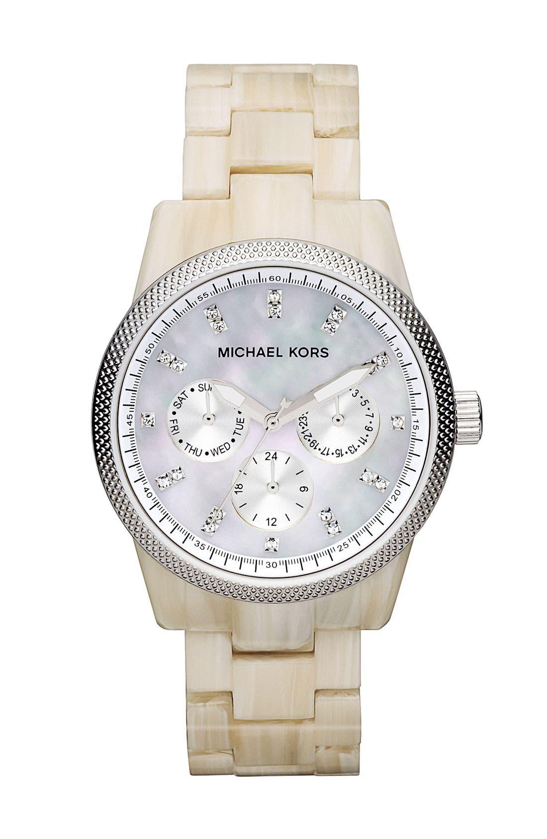 Main Image - Michael Kors 'Ritz' Crystal Index Bracelet Watch