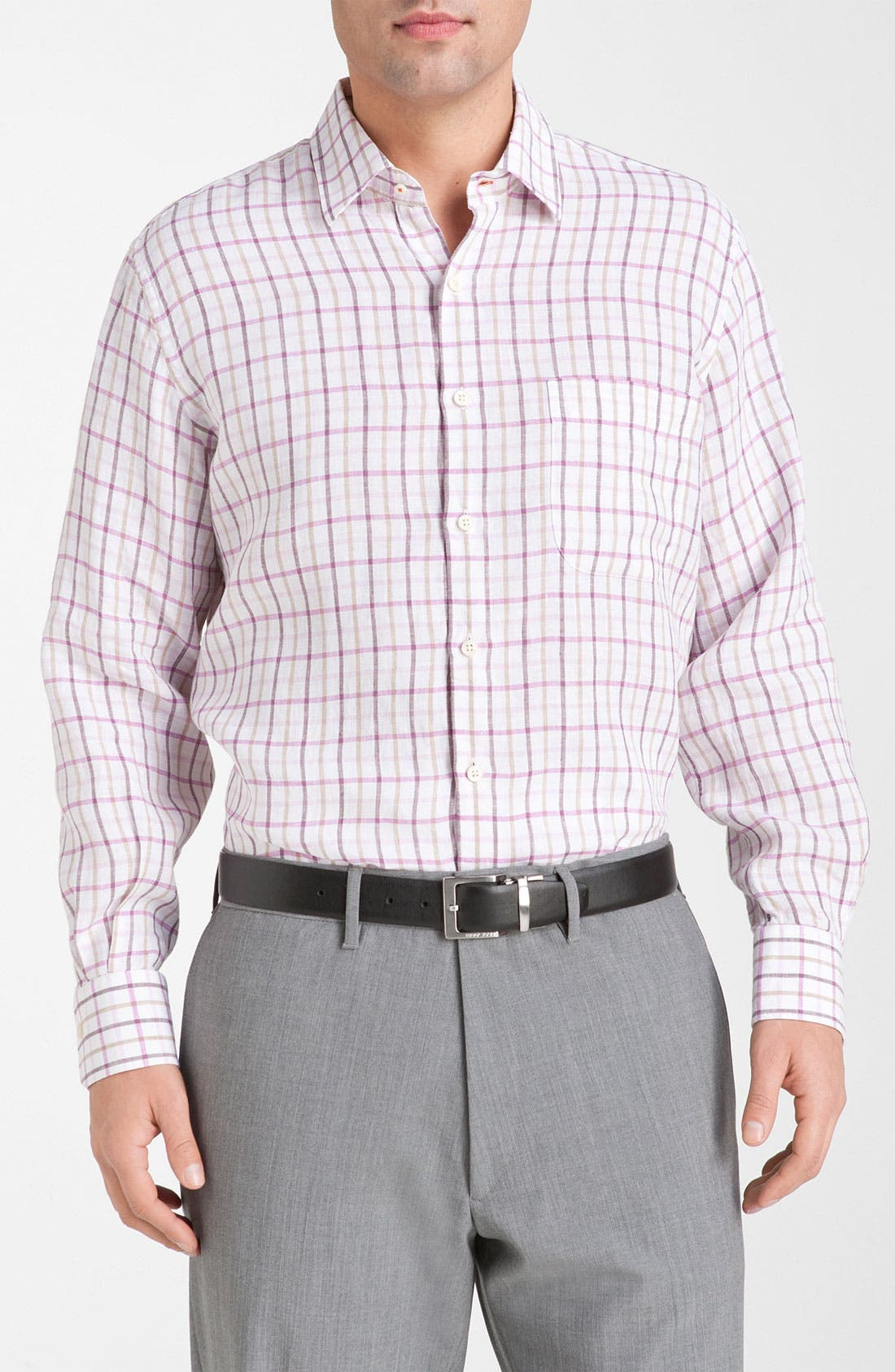 Alternate Image 1 Selected - Peter Millar Regular Fit Linen Sport Shirt