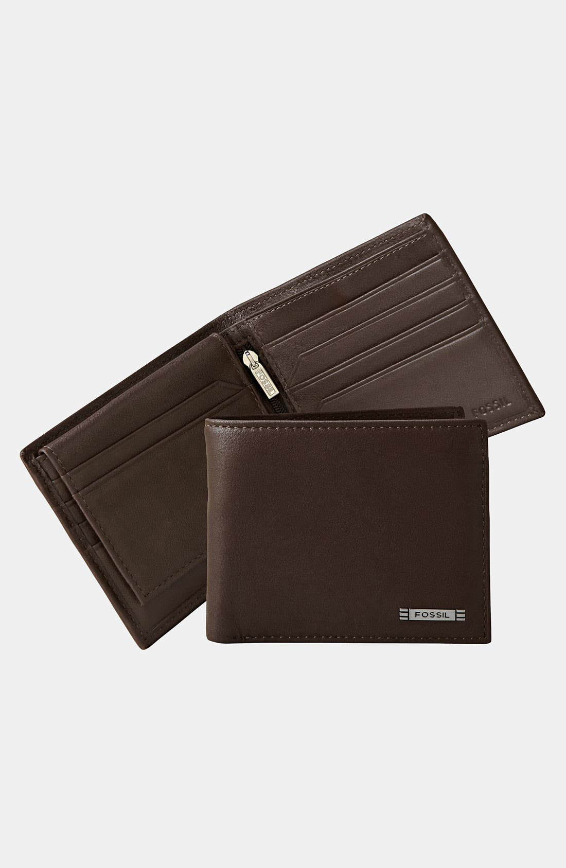 Alternate Image 1 Selected - Fossil 'Evans' Passcase Bifold Wallet