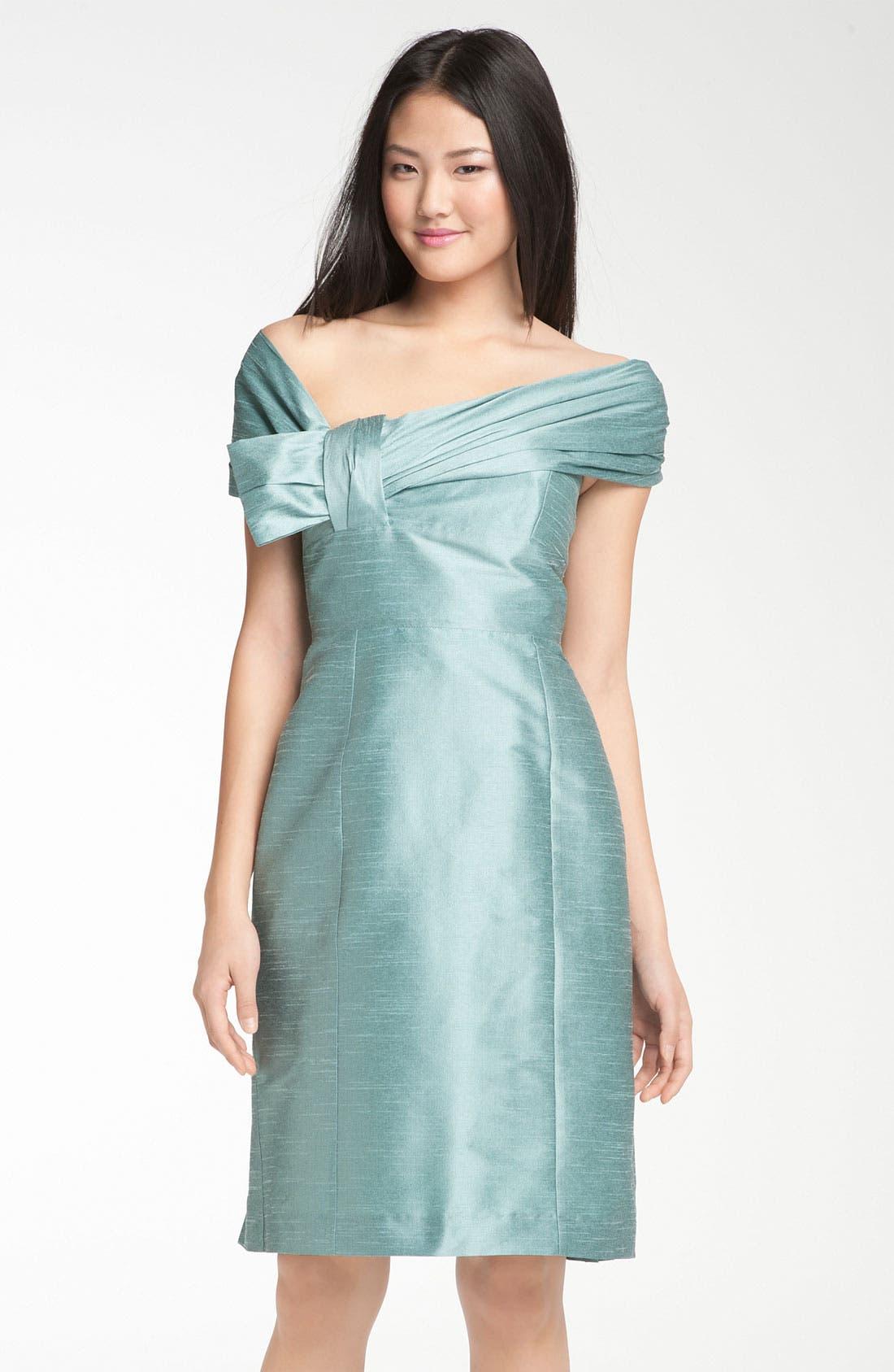Alternate Image 5  - Anna Elyse Bridesmaids Convertible Shantung Dress
