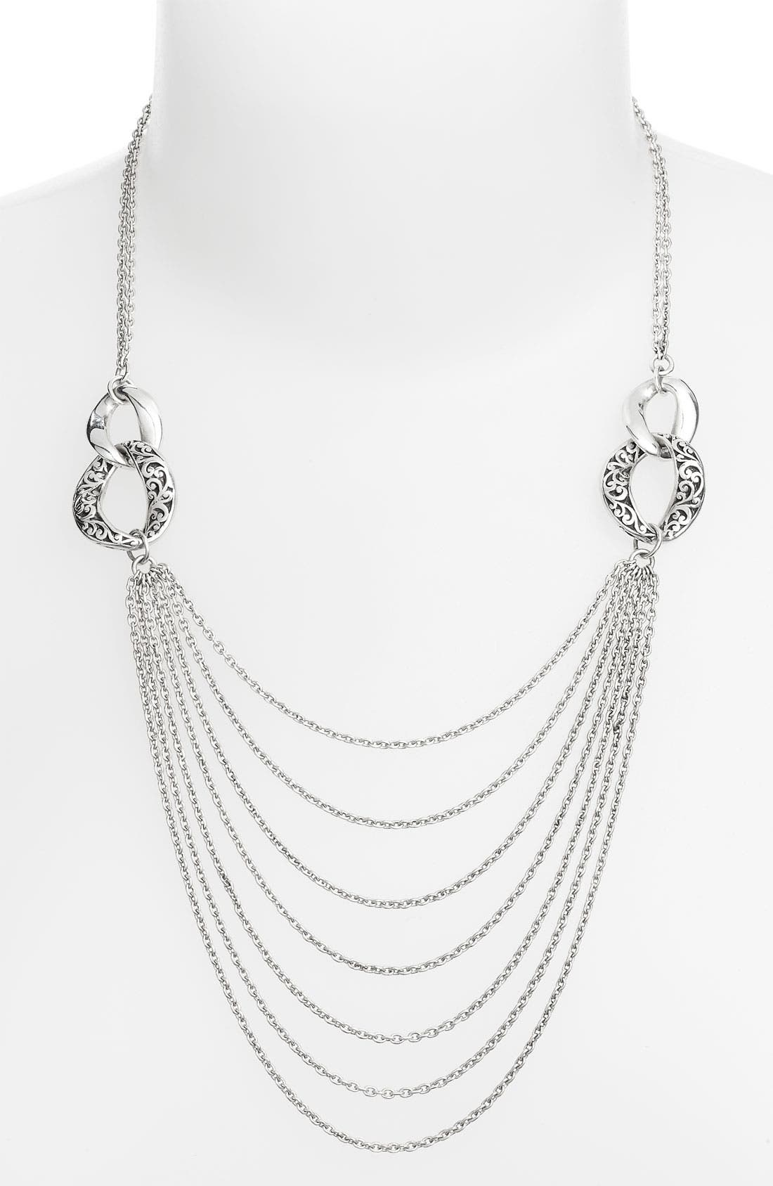 Main Image - Lois Hill 'Balls & Chains' Multi Chain Necklace