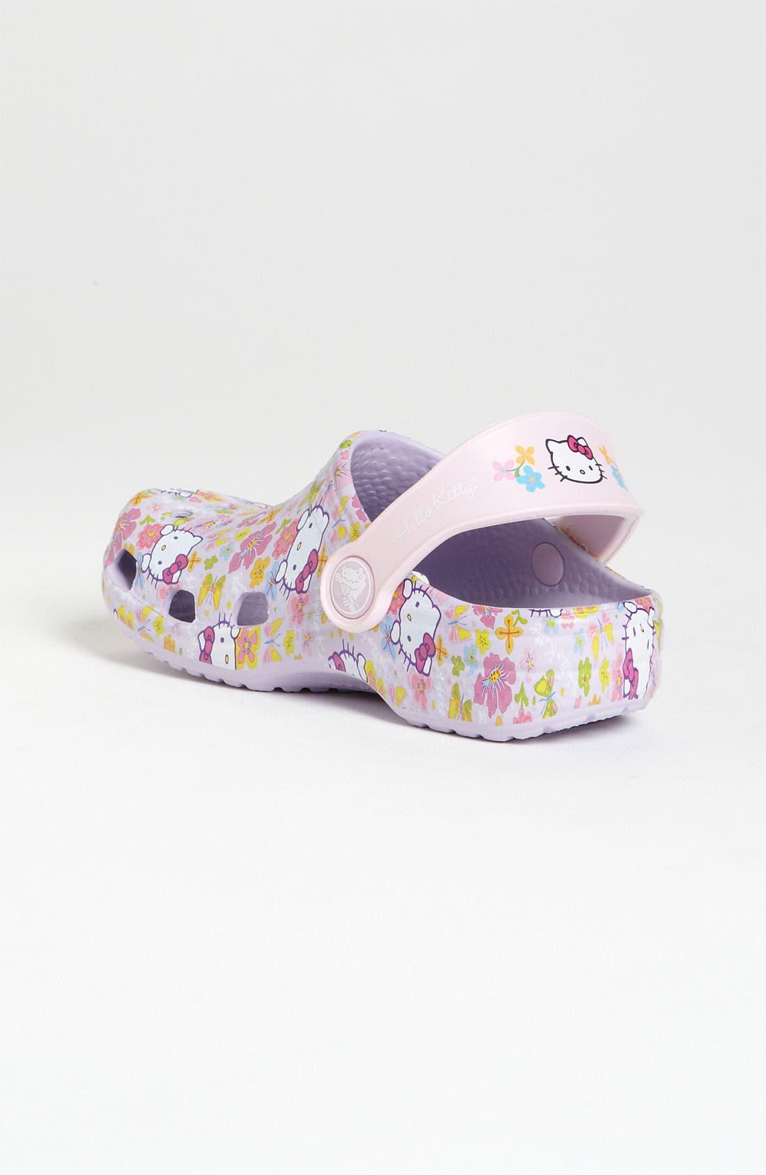 Alternate Image 2  - CROCS™ 'Hello Kitty®' Slip-On (Walker & Toddler)