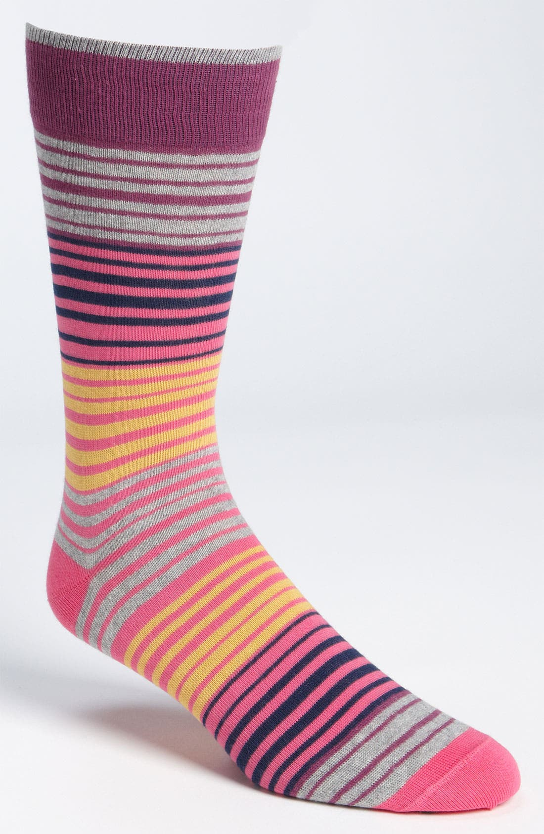 Main Image - Lorenzo Uomo Multi Stripe Socks