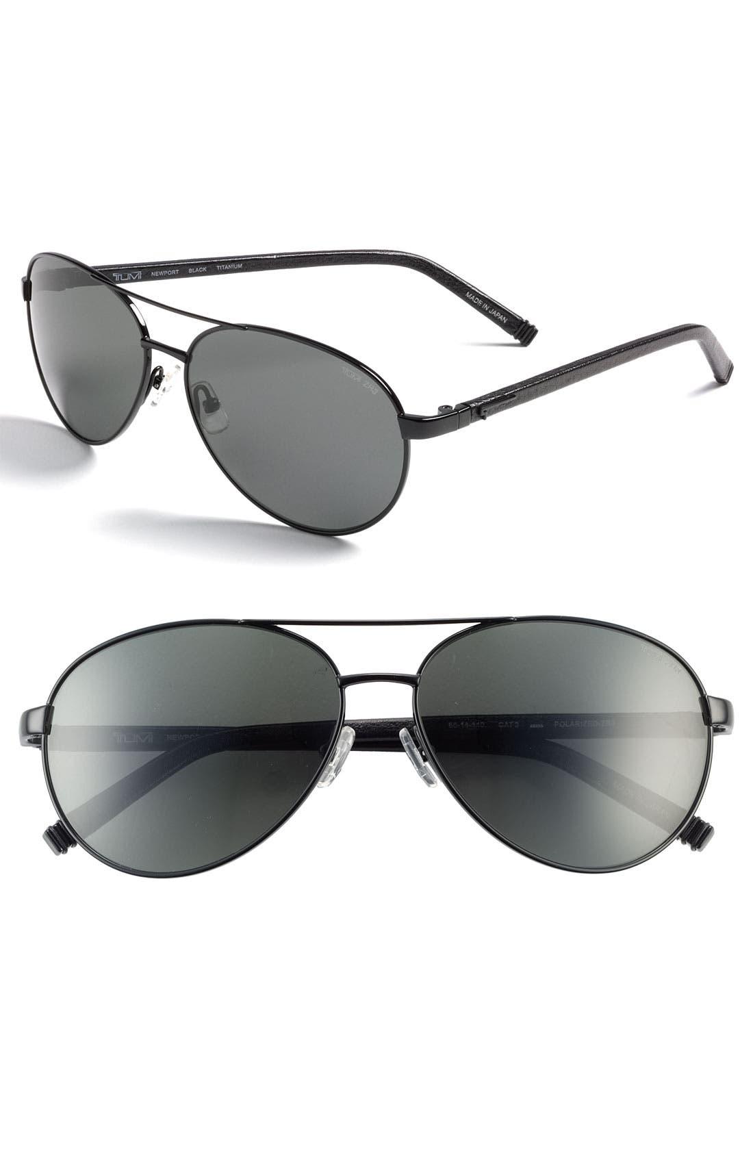 Main Image - Tumi 'Newport' Polarized Sunglasses