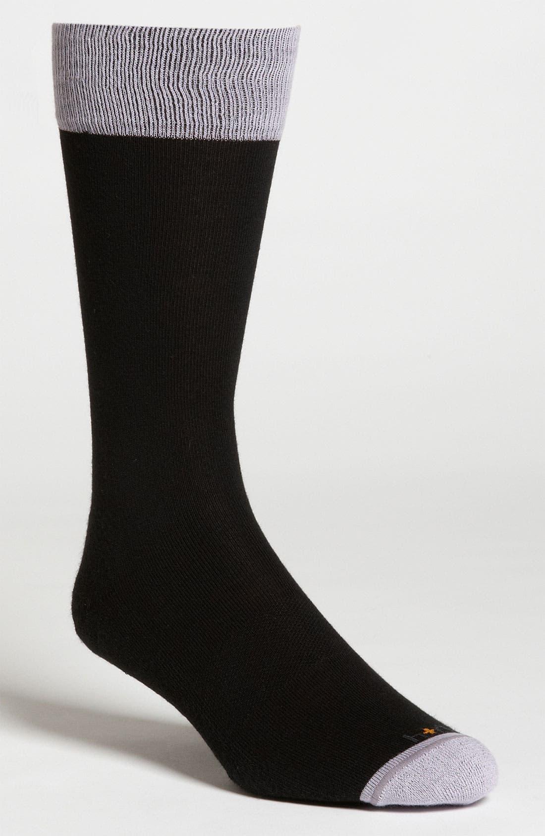 Main Image - hook + ALBERT Contrast Trim Socks