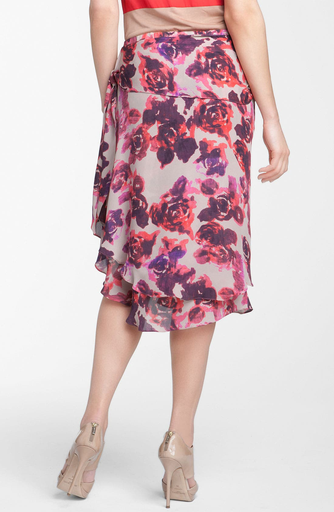 Alternate Image 2  - Haute Hippie Layered Frilly Faux Wrap Floral Skirt