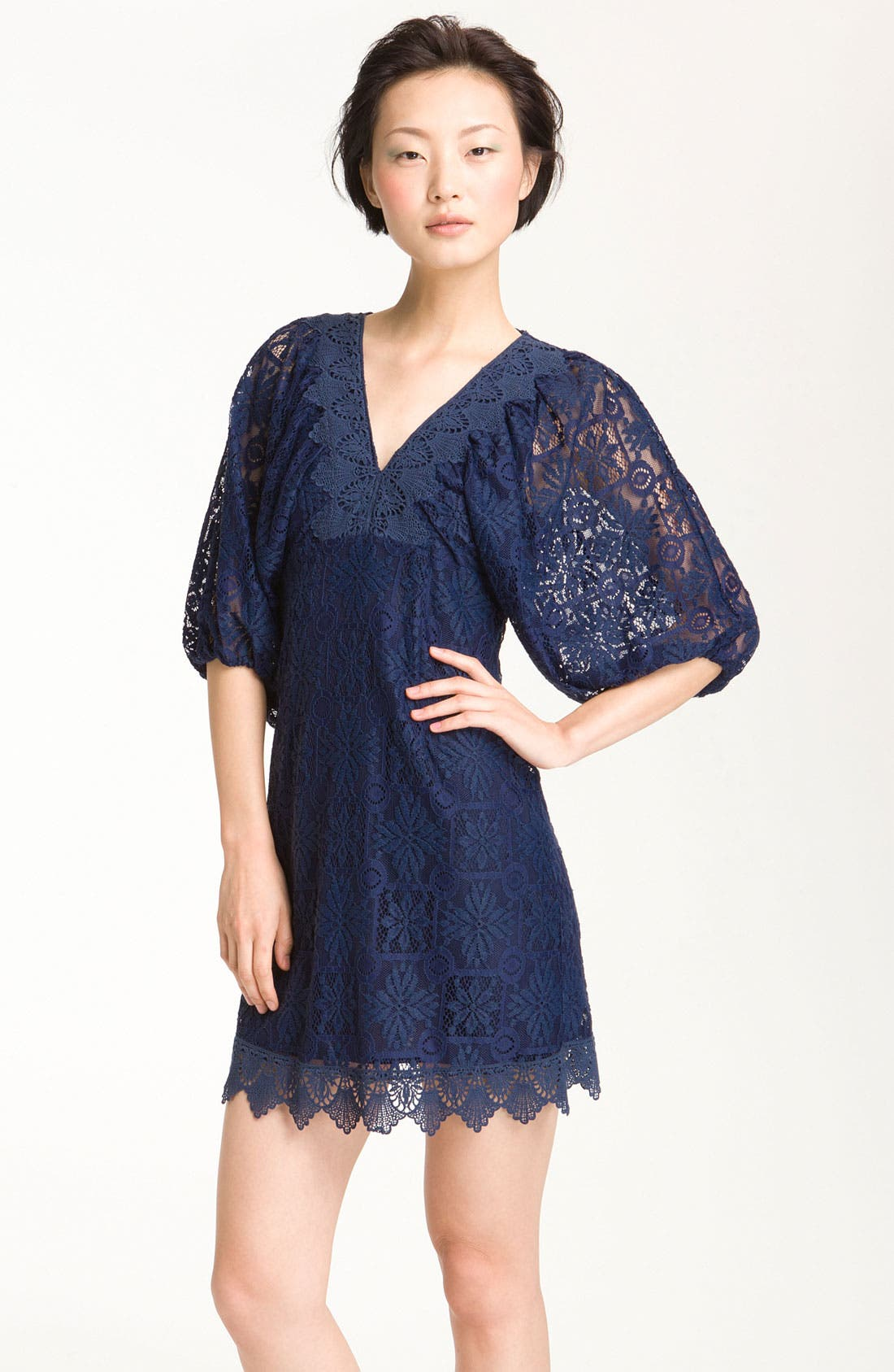 Alternate Image 1 Selected - Laundry by Shelli Segal Lace Minidress