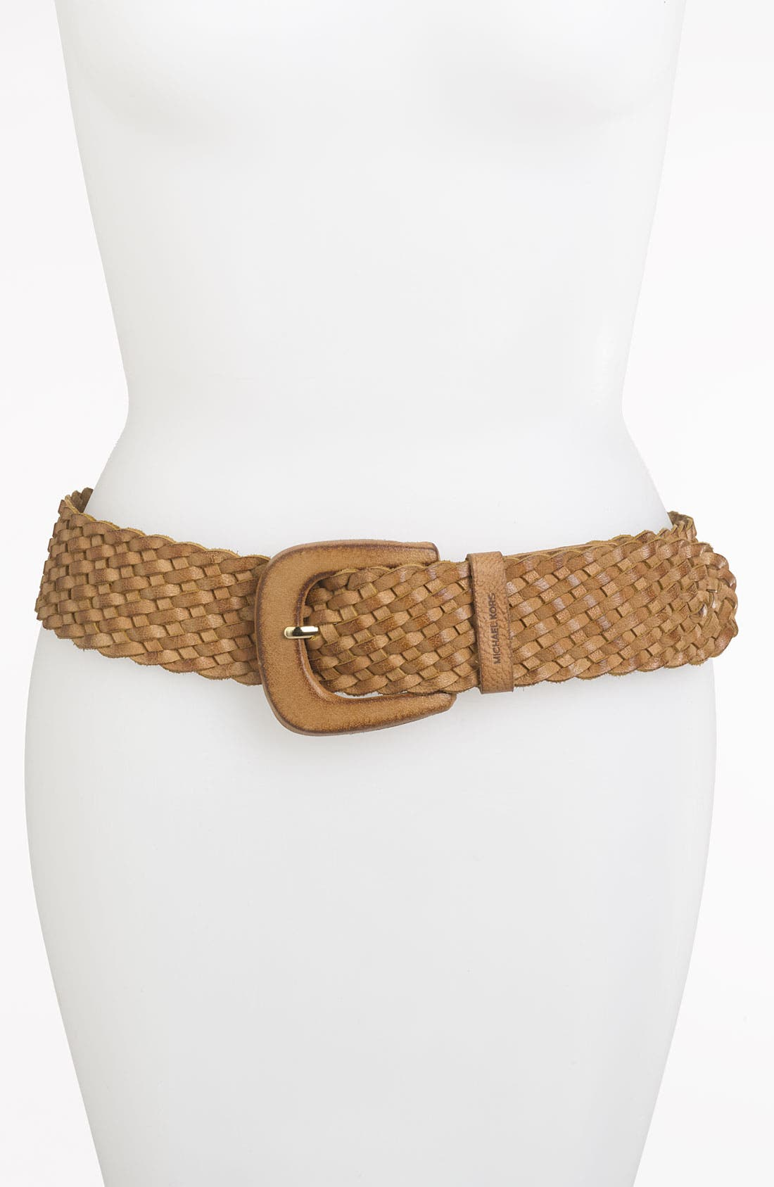 Alternate Image 1 Selected - MICHAEL Michael Kors Braided Leather Belt
