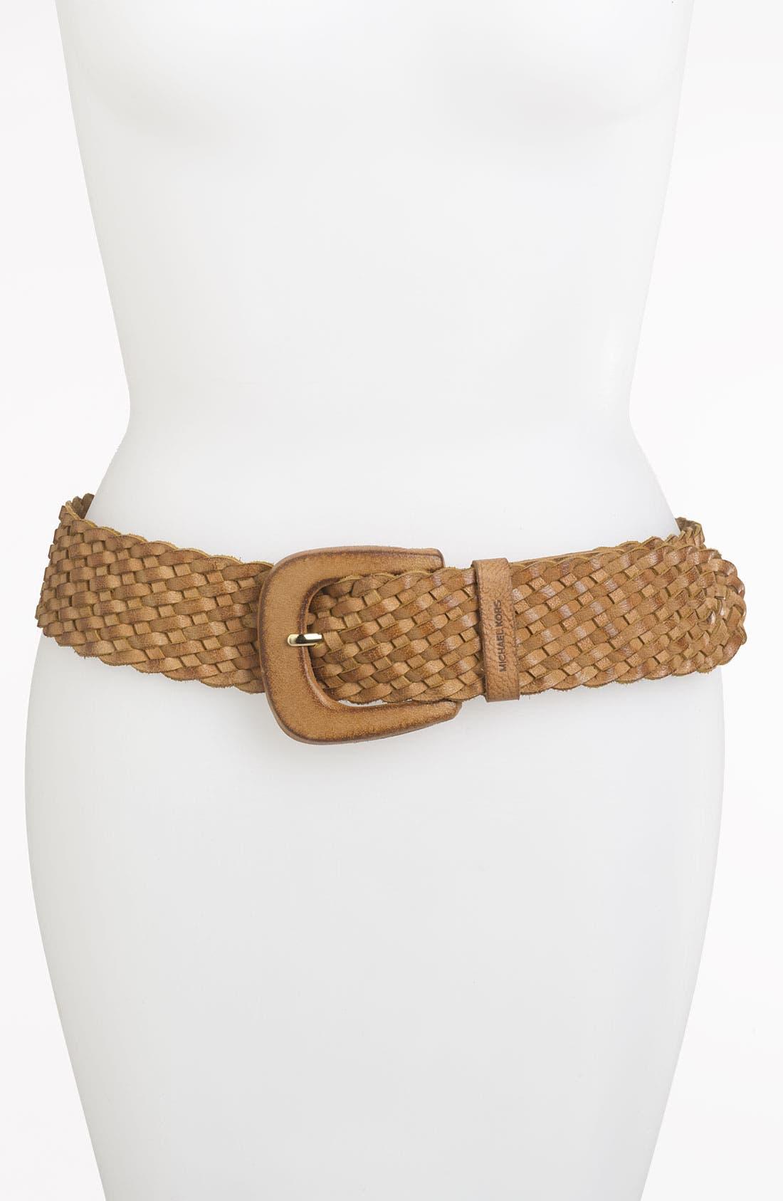 Main Image - MICHAEL Michael Kors Braided Leather Belt