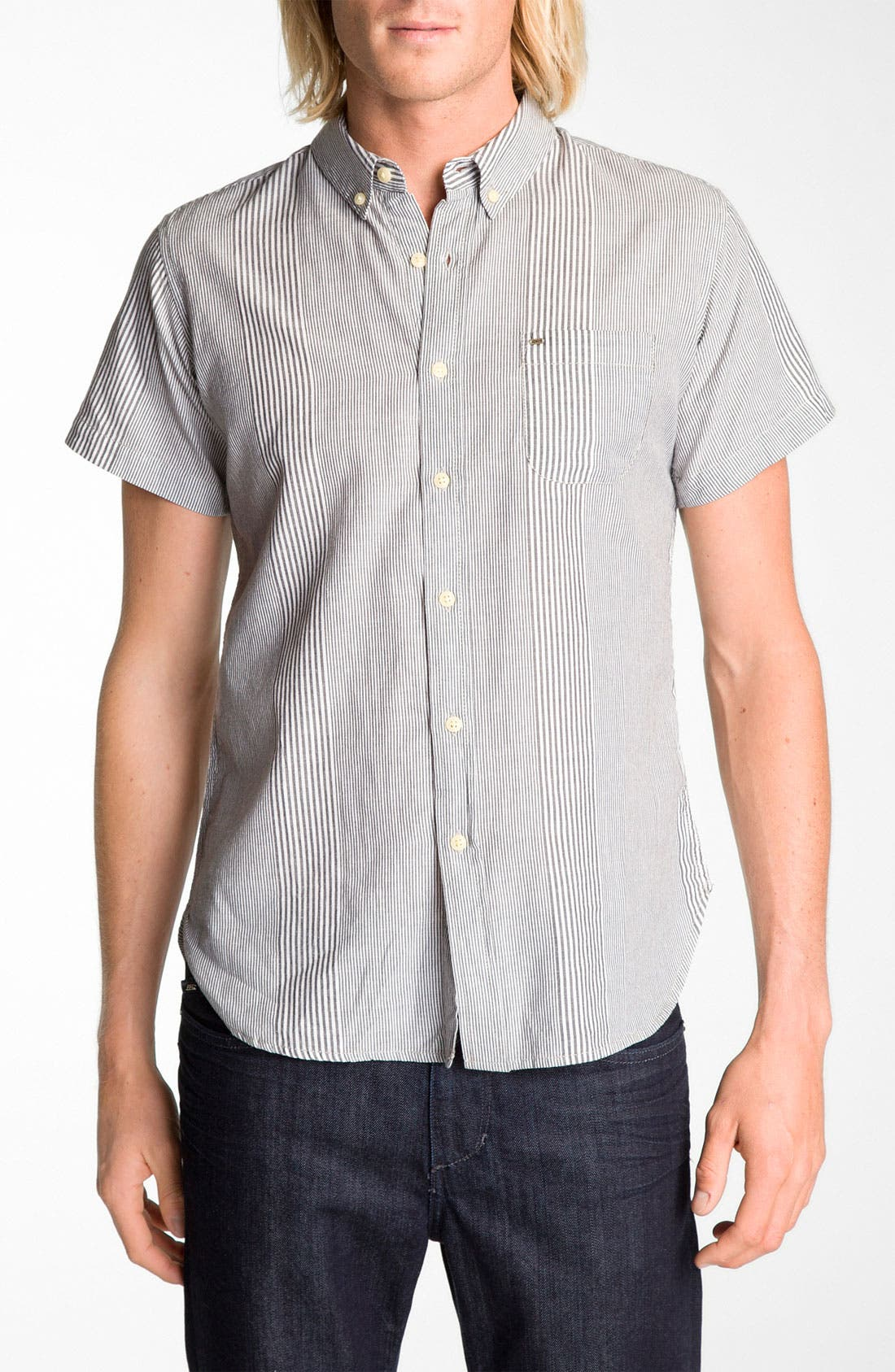 Alternate Image 1 Selected - Obey 'Wayne' Stripe Woven Shirt