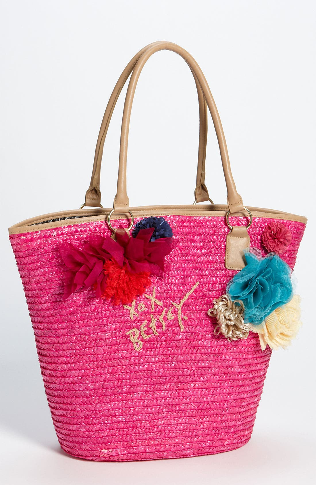 Alternate Image 1 Selected - Betsey Johnson Straw Tote