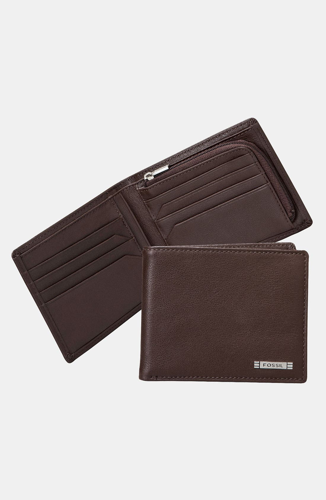 Main Image - Fossil 'Evans' Leather Billfold