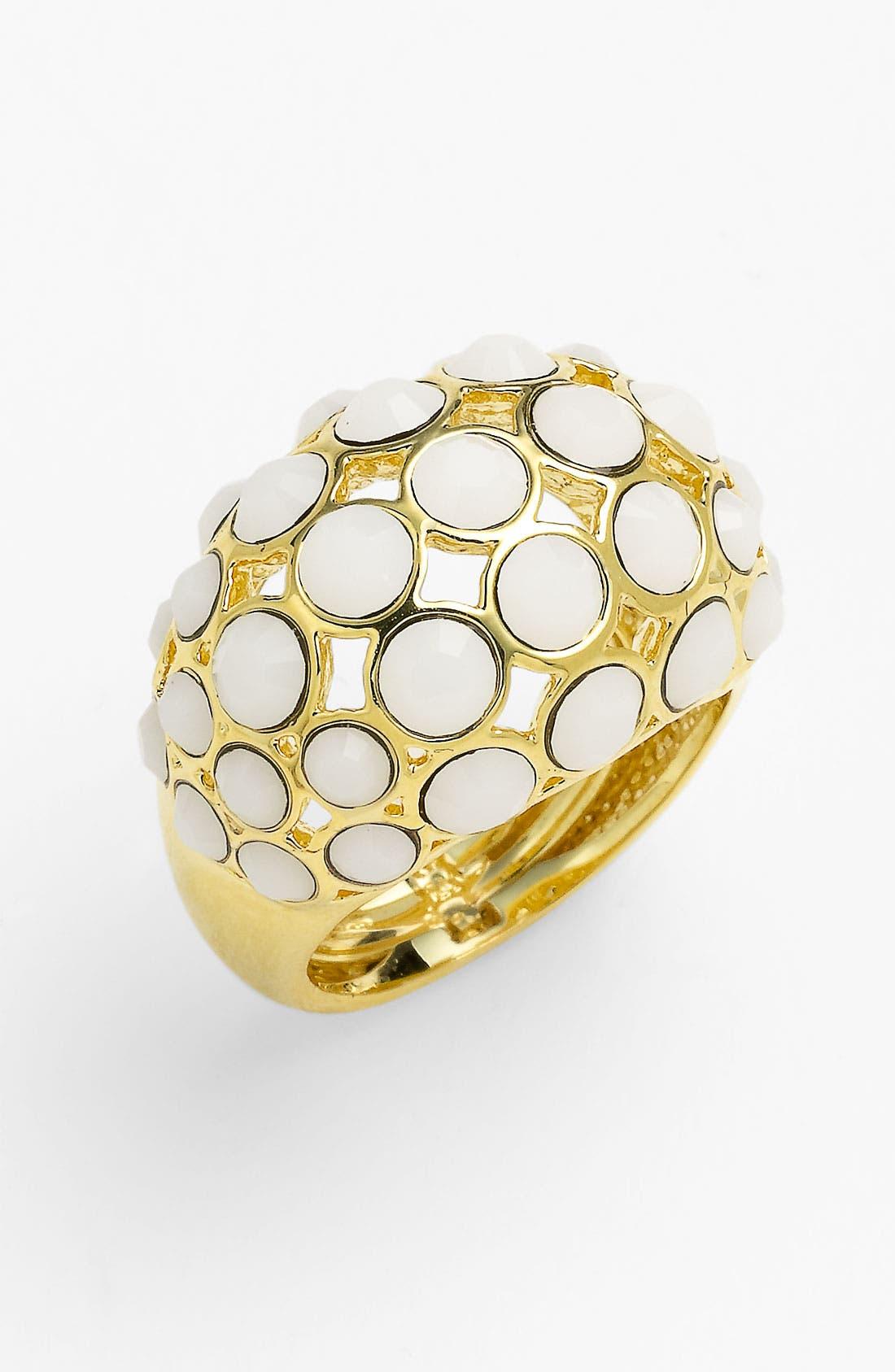 Main Image - Ariella Collection 'White Hot' Multi Stone Dome Ring