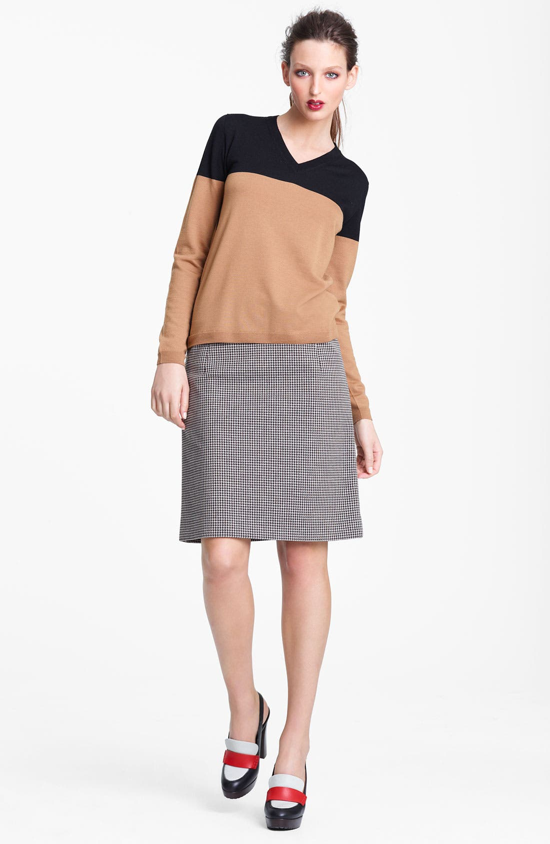 Alternate Image 7  - Marni Edition Houndstooth Pencil Skirt