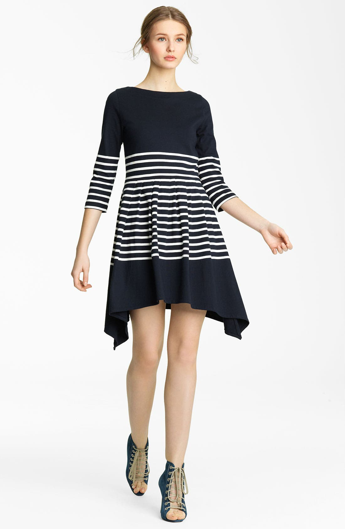Alternate Image 1 Selected - Band of Outsiders Stripe Jersey Dress