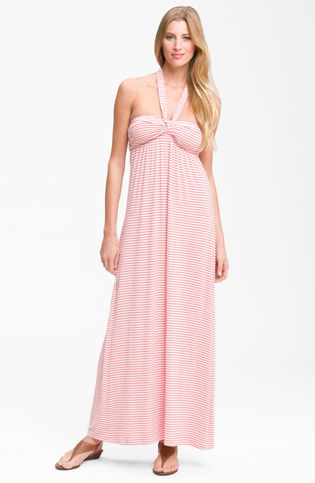 Main Image - Felicity & Coco Stripe Halter Maxi Dress (Nordstrom Exclusive)