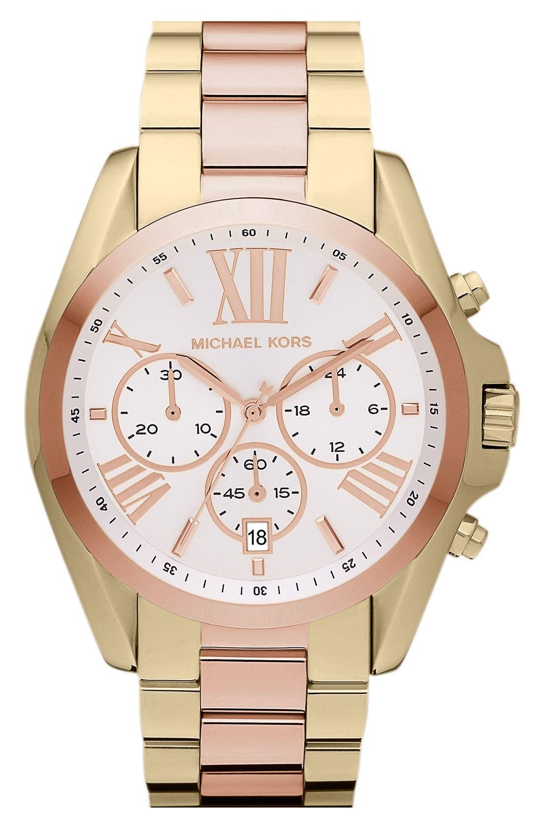 Main Image - Michael Kors 'Bradshaw' Chronograph Bracelet Watch, 43mm